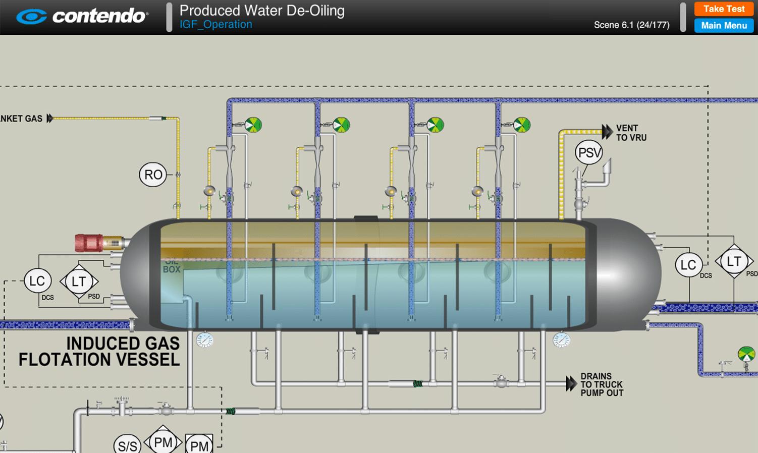induced gas floatation  igf  operation  sagd oil sands